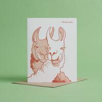 I Llama You Card