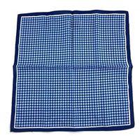 Salt and Dapper Pocket Square - Navy and light blue