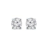 Beyonce 1CT Sterling Silver Princess Cut White Sapphire Stud Earrings