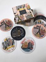 Rifle Paper Bon Voyage City Coasters