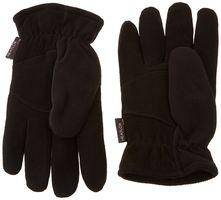 Heatlok Thermal Gloves Black Deersplit Palm, Polar Fleece Back, Lined Small