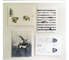 Four Greeting Card Collection by Saltwater & Feathers