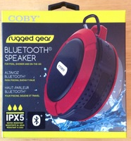 Coby Rugged Bluetooth Travel Speaker ipx5