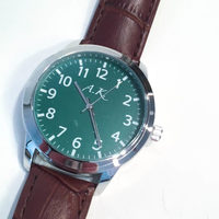 A.K. Timepiece Leather Watch