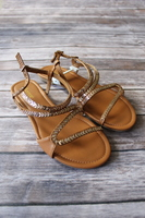 Gold Serpent Sandals by Wanted