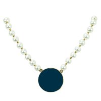 Mary Square CHOKER NECKLACE- PEARL NAVY