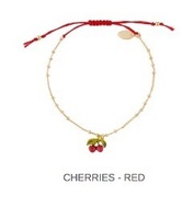 Les Nereides Bracelet Red Cherries
