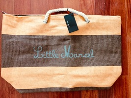 Little Marcel Beach Tote - Coral and Brown