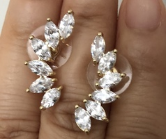 Taya 24K Gold Plated CZ Earring