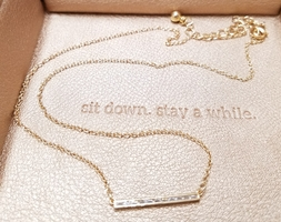 Sparkly, Dainty & Delicate Gold Necklace