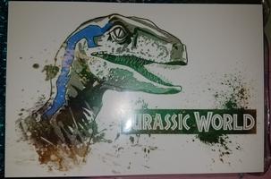 Jurassic Park / World May 2018 Blue the Velociraptor Art Print