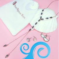 Catalina shell hoops and stud earrings
