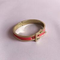 Pink Enameled Belt Bracelet