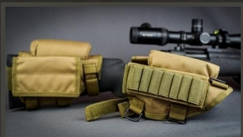 Rifle cheek rest with ammo and admin pouch