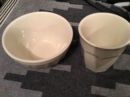 Muesli bowl and Latte cup in gray