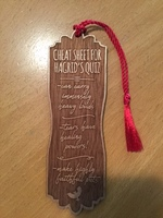 Cheat Sheet for Hagrid's Quiz Wooden Bookmark