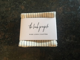 The Beach People Pure Linen Coasters