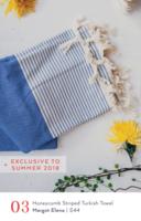 Honeycomb striped turkish towel