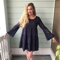 Lori & Mari Lace Bell Sleeve Dress - M