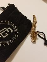 Saxophone Tie bar/tie pin