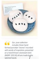 Betsy Carter Inspiration stones & dish