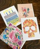 Four Greeting Card Set by Sweet Llamita
