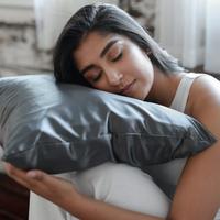 Grace Eleyae Gray Satin Pillowcase