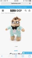 Gene the Gentleman squeaky dog toy
