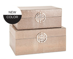 Croc Embossed Decorative Box Set