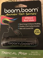 boom.boom Awaken Your Senses All-Natural Nasal essential oil aromatherapy Inhaler - Tropical Rush