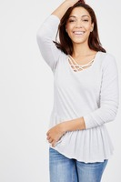 Summer & Sage Strappy Neck Top