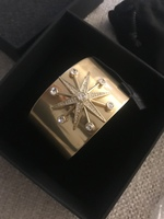 Rachel Zoe christa starburst gold cuff bracelet