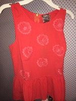 Coral Blossoms Peplum top