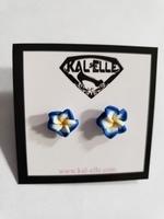 Hawaiian flower earrings