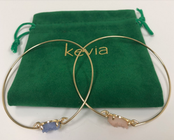 Pair of Kevia Druzy Bangle Bracelets
