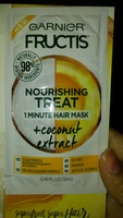 Garnier fructis nourishing treat 1 min hair mask with coconut extract