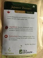 Tea sparrow Japanese treasures green tea