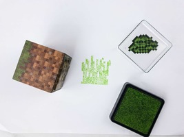 Minecraft Grass Stamp and Ink Pad