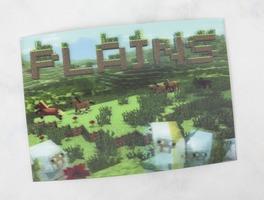 Mine Chest Lenticular Plains Postcard / Info Card