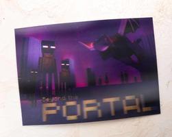 Mine Chest Lenticular Portal Postcard / Info Card