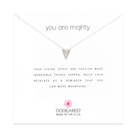 DOGEARED You Are Mighty Sterling Silver Necklace