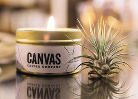 Canvas Candle in Best Coast