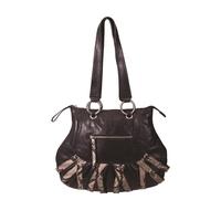 Bella Shoulder Bag Black & Phython