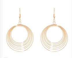 Metallic Orbit Earrings - Gold