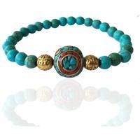 Gogh Jewelry Fortune Bringing Turquoise Bracelet