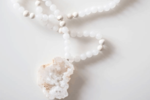 Mala Necklace with Crystal Quartz Pendant