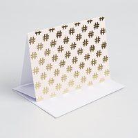 Gold Foil Hashtag Card