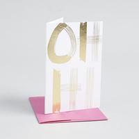 Gold Foil Oh Hi Card