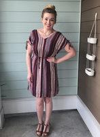 Tribal Print Dress - L