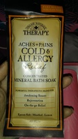 Village natural s therapy aches & pains cold & allergy relief mineral bathe soak